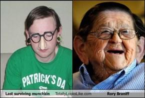 Last surviving munchkin  Totally Looks Like Rory Braniff
