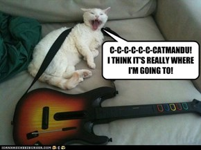 C-C-C-C-C-C-CATMANDU! I THINK IT'S REALLY WHERE I'M GOING TO!