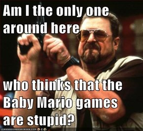 Am I the only one around here  who thinks that the Baby Mario games are stupid?