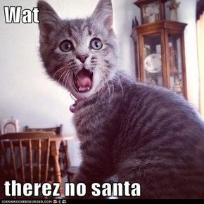 Wat  therez no santa