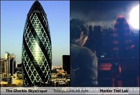 The Gherkin Skyscraper Totally Looks Like Marker Test Lab