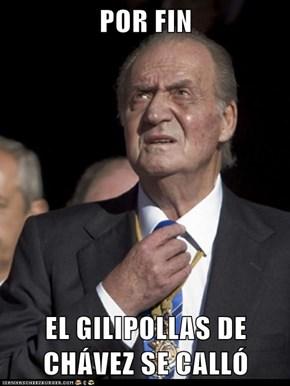 POR FIN  EL GILIPOLLAS DE CHÁVEZ SE CALLÓ