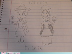 my drawing of trixie