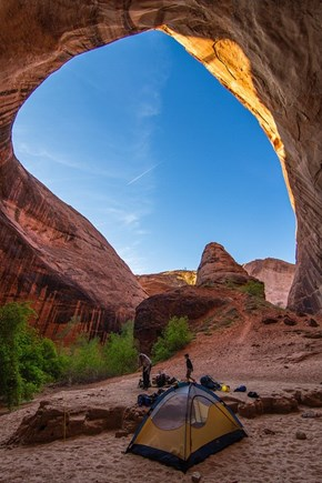 Camping Out in Coyote Gulch, Utah