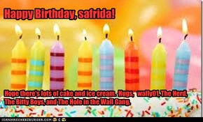 Happy Birthday, safrida!