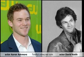 actor Aaron Ashmore Totally Looks Like actor David Keith