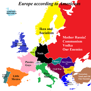 Europeans according to Americans