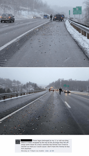 LEGO Spill Shuts Down I-79 in Harrison County, West Virginia
