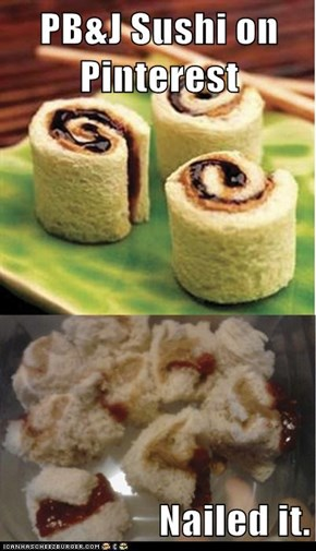 PB&J Sushi on Pinterest  Nailed it.
