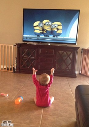 Baby Scares Minions