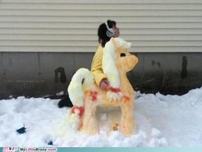 AppleJack snowpony! :)