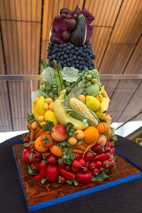 This Fruit and Veggie Cornucopia is Actually a Cake!