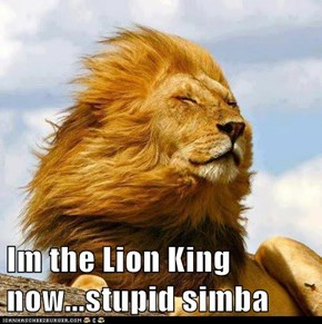 Im the Lion King now...stupid simba