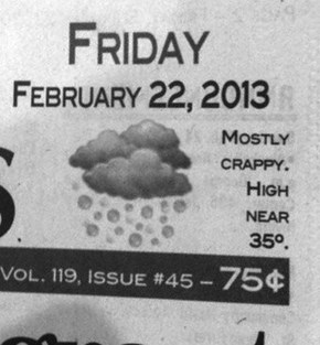 """Cloudy With a Chance of """"Crap"""""""