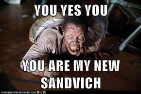 YOU YES YOU  YOU ARE MY NEW SANDVICH