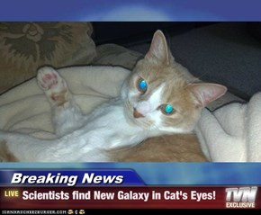 Breaking News - Scientists find New Galaxy in Cat's Eyes!