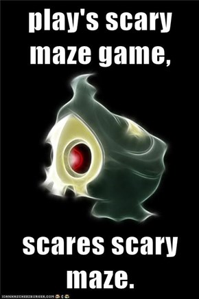 play's scary maze game,  scares scary maze.