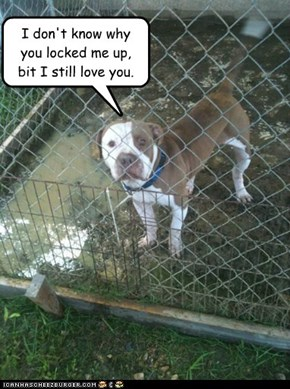 Caged.
