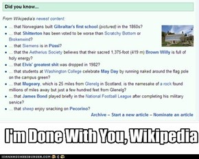 I'm Done With You, Wikipedia