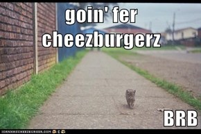 goin' fer cheezburgerz  BRB