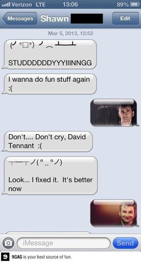 David Tennant is Pleased