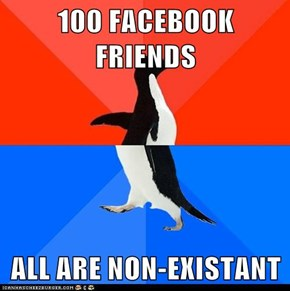 100 FACEBOOK FRIENDS  ALL ARE NON-EXISTANT
