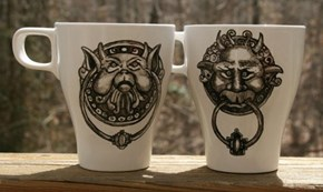 Awesome Handpainted Labyrinth Movie Inspired Coffee Mug Set