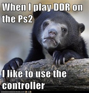 When I play DDR on the Ps2  I like to use the controller
