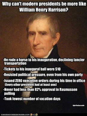 Of course it was 1841 and he died on his 32nd day in office.