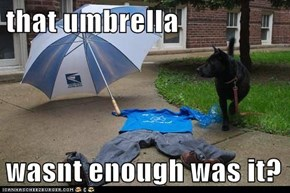 that umbrella  wasnt enough was it?