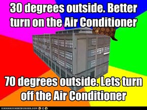 30 degrees outside. Better turn on the Air Conditioner