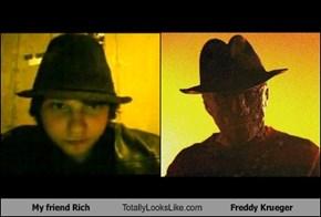 My friend Rich Totally Looks Like Freddy Krueger