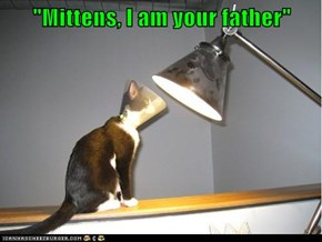 """Mittens, I am your father"""