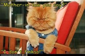 """Mother-in-law you say?""  ""I don't finkso!"""