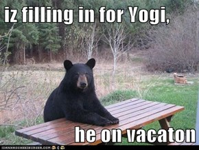iz filling in for Yogi,  he on vacaton