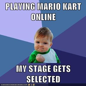 PLAYING MARIO KART ONLINE  MY STAGE GETS SELECTED