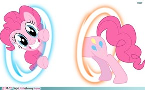 Pinkie sure loves her portals.