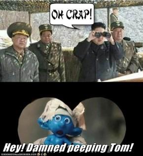Hey! Damned peeping Tom!