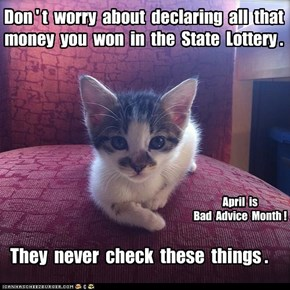 Bad Advice Month:  Taxes