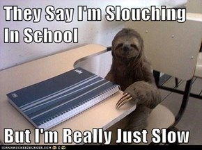 They Say I'm Slouching In School  But I'm Really Just Slow