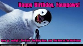 Happy  Birthday,  Fauxpaws!