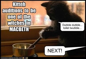 Kitteh Auditions for Macbeth