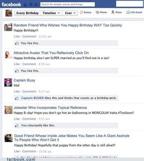 Facebook Birthdays