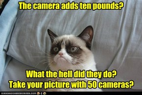 The camera adds ten pounds?