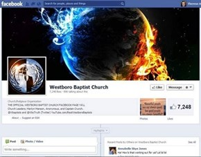Hack of the Day: Westboro Baptist Church Facebook page Hacked.