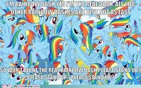 The Real Rainbow Dash. Eminem would approve