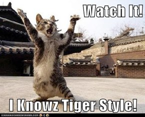 Watch It!  I Knowz Tiger Style!