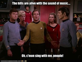 The Enterprise chorus line never took off...