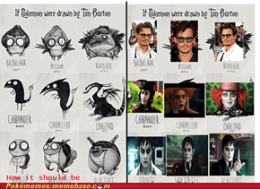 If Tim Burton Drew Pokemon - How it would really be.