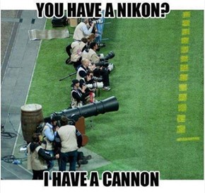 The Nikon Is Bigger Though